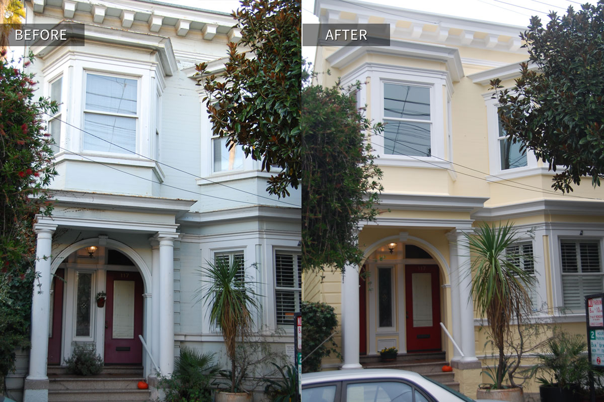 San Francisco Two Story Victorian Duplex Before/after Photo
