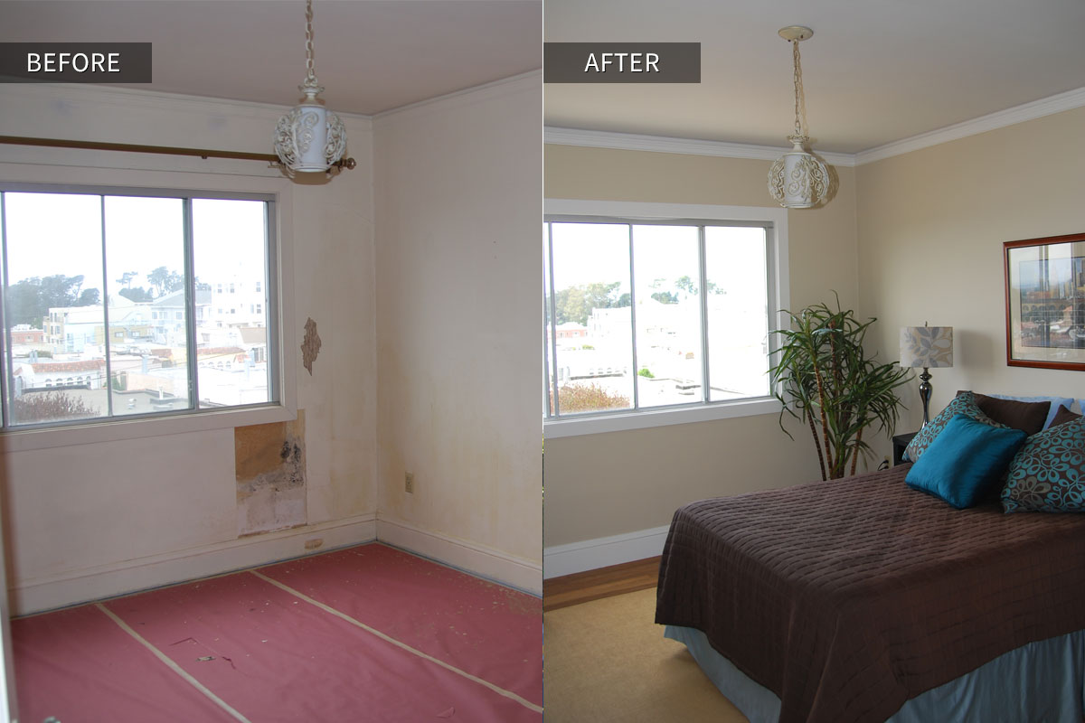 San Francisco Interior Home Before After Bedroom Photo