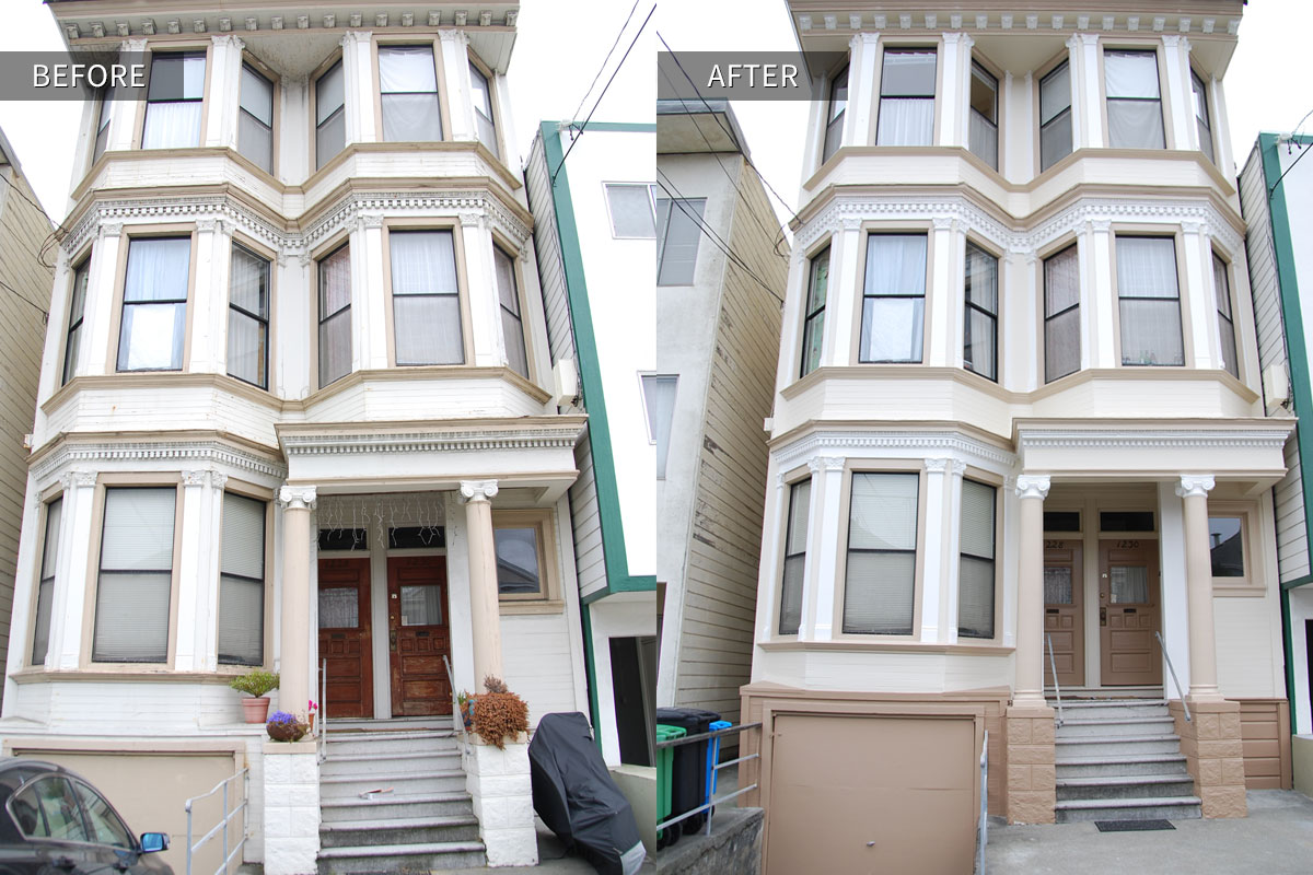 Good San Francisco Victorian Duplex Before/after Restoration Photo Awesome Design