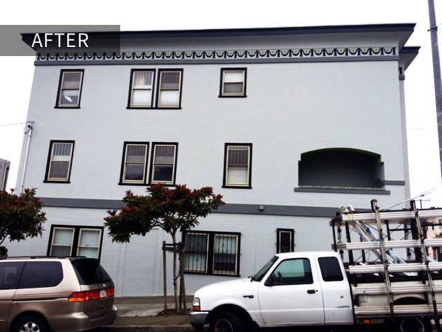 gray apartment building painting project san francisco after photo