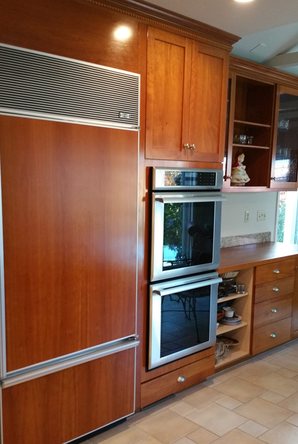 De Martini/Arnott Will Disassemble The Cabinet Fronts And Take Them To The  Shop Or Work Onsite To Strip, Sand And Refinish Them.